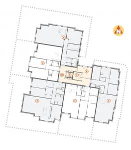 Tekening-Appartementen-met-tuin-begane-grond